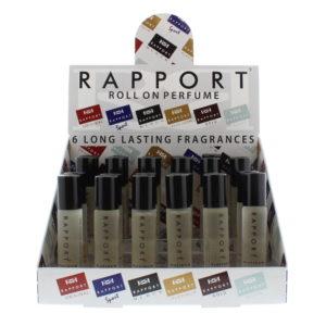 Eden Classic Rapport Platinum 10ml Roll On Perfume Display Unit 24pcs