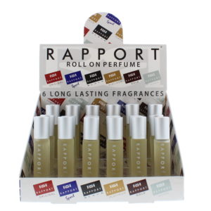 Eden Classic Rapport Silver 10ml Roll On Perfume Display Unit 24pcs
