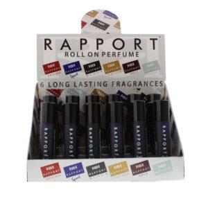 Eden Classic Rapport Sport 10ml Roll On Perfume Display Unit 24pcs