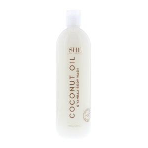 Om She Coconut Oil & Vanilla Body Wash 500ml