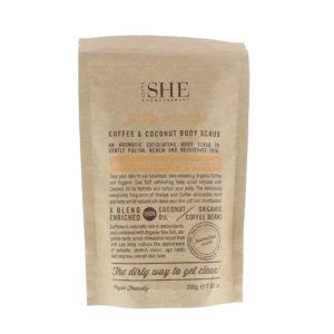 Om She Coffee & Coconut Zesty Orange Body Scrub 200g