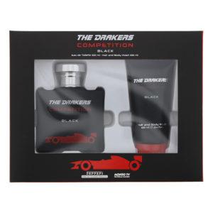 Mondo Tv Ferrari The Drakers Competition Black Eau de Toilette Gift Set : Eau de Toilette 100ml - Hair And Body Wash 100ml