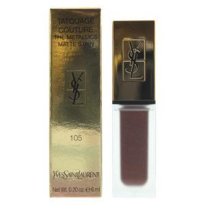 Yves Saint Laurent Tatouage Couture The Metallics Matte 105 Magnetic Prune Temper Lip Stain 6g