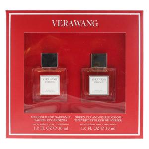 Vera Wang Embrace 2 Piece Set - Marigold and Gardenia Eau De Toilette 30ml - Green Tea and Pear Blossom Eau De Toilette 30ml