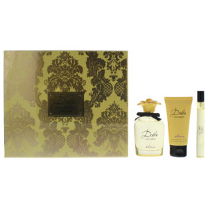Dolce & Gabbana Dolce Shine 3 Piece Eau De Parfum 75ML Body Lotion 50ML Eau De Parfum 10ML