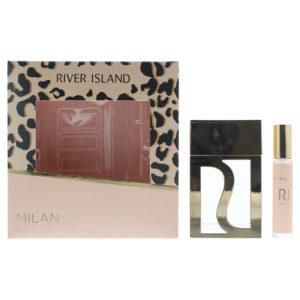 River Island Milan 2 Piece Gift Set: Eau De Toilette 75ml - Eau De Toilette 10ml Purse Spray