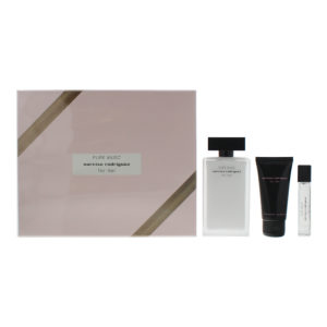 Narciso Rodriguez For Her 3 Piece Eau De Parfum 100ML Eau De Parfum 10ML Body Lotion 50ML