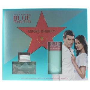 Antonio Banderas Blue Seduction 2 Piece Set - Eau De Toilette 50ml -  Body Lotion 100ml