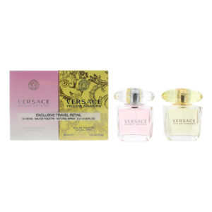 Versace Eau De Toilette 2 Piece Gift Set: Bright Crystal Eau De Toilette 30ml - Yellow Diamond Eau De Toilette 30ml