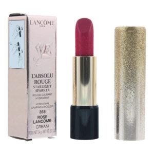 Lancôme L'absolu Rouge Starlight Sparkle #368 Rose Cream Lipstick 3.4g