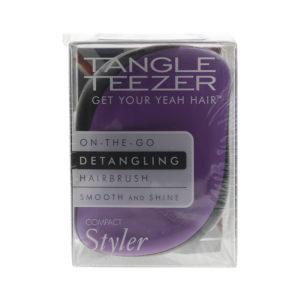 Tangle Teezer Compact Styler Black Violet Purple-Black Hair Brush