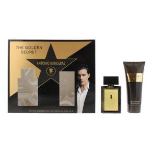 Antonio Banderas Golden Secret 2 Piece Set - Eau De Toilette 50ml -  Aftershave Balm 100ml