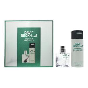 David Beckham Inspired By Respect 2 Piece Gift Set: Eau De Toilette 40ml - Deodorant Spray 150ml