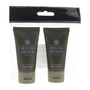 Molton Brown White Sandalwood 2 Piece Gift Set: 2 x Body Wash 30ml