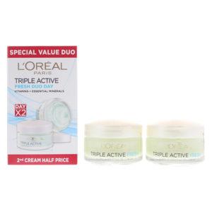 L'oreal Triple Action Fresh Cream 50ml X 2