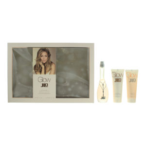 Jennifer Lopez Glow Eau De Toilette 3 Piece Gift Set: Eau De Toilette 50ml - Body Lotion 75ml - Shower Gel 75ml
