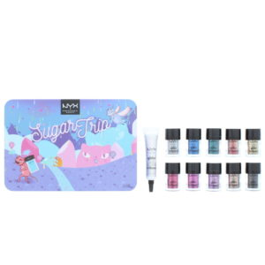 NYX Sugar Trip Glitter Vault Cosmetic Set Gift Set : Glitter x10 2.5g - Glitter Primer 10ml