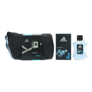 Adidas Ice Dive 2 Piece Gift Set: Eau De Toilette 100ml - Toiletry Bag