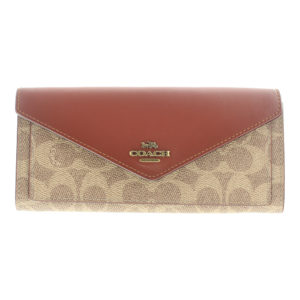 Coach Large Soft Coated Canvas and Coloblock Wallet